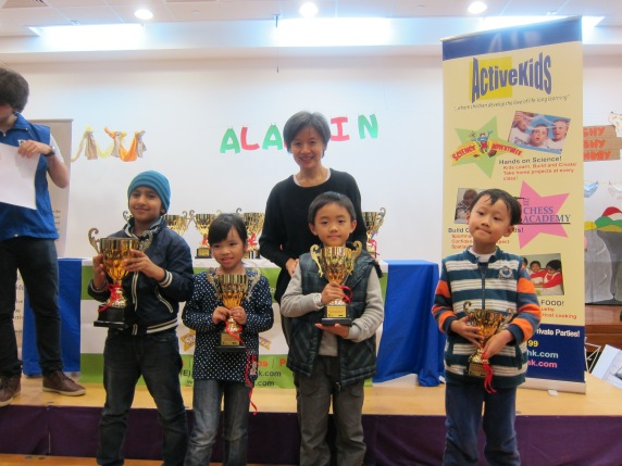 Age 4-6 Winners (from left to right): Champion Uppal Mahir, Female Champion Chan Ngo Yu, 1st Runner up Jason Chung, 2nd Runner Up Bai Shijun.