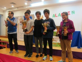 Age 11-12 Winners(from left to right) Champion Ronald Choy, 1st Runner Up Colin Wong, 2nd Runner Up Leung Hoi Ting