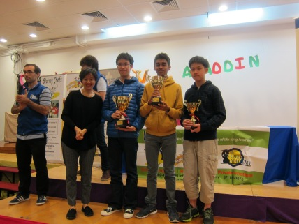 Age 13-18 Winners (from left to right): Champion Ashley Chow, 1st Runner Up Jain Vaibhav, 2nd Runner Up Jason Chow