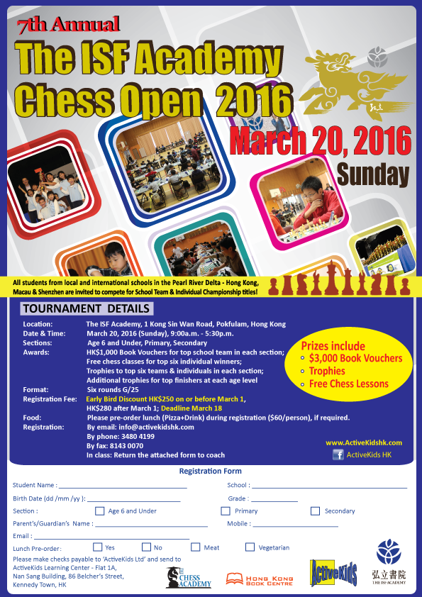 The ISF Academy Chess Open 2016 (Concluded)
